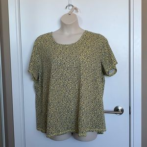 PENNINGTONS | 2X | Yellow Floral Cotton Tee